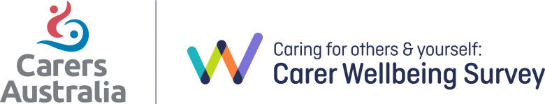 Logo lock up - Carers Australia and Carer wellbeing survey